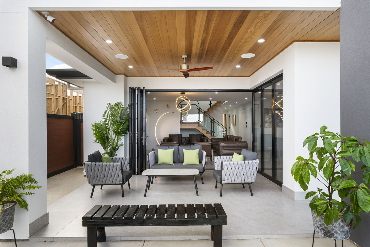modern home interior of newly built home